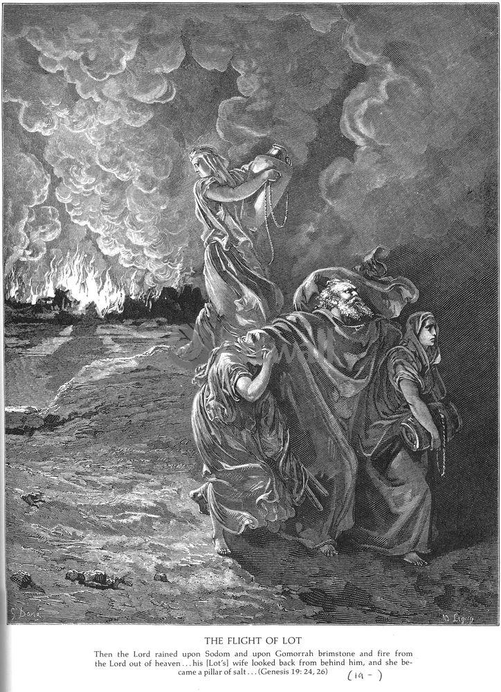"""Художники, картина """"Выселение Лота, Ветхий Завет"""", 20x28 см, на бумаге от Artwall"""