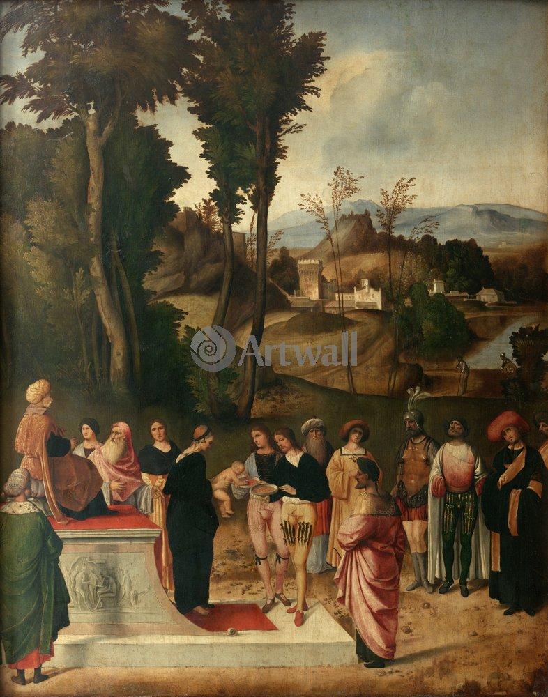 """Художники, картина """"Моисей проходит испытание огнём"""", 20x25 см, на бумаге от Artwall"""
