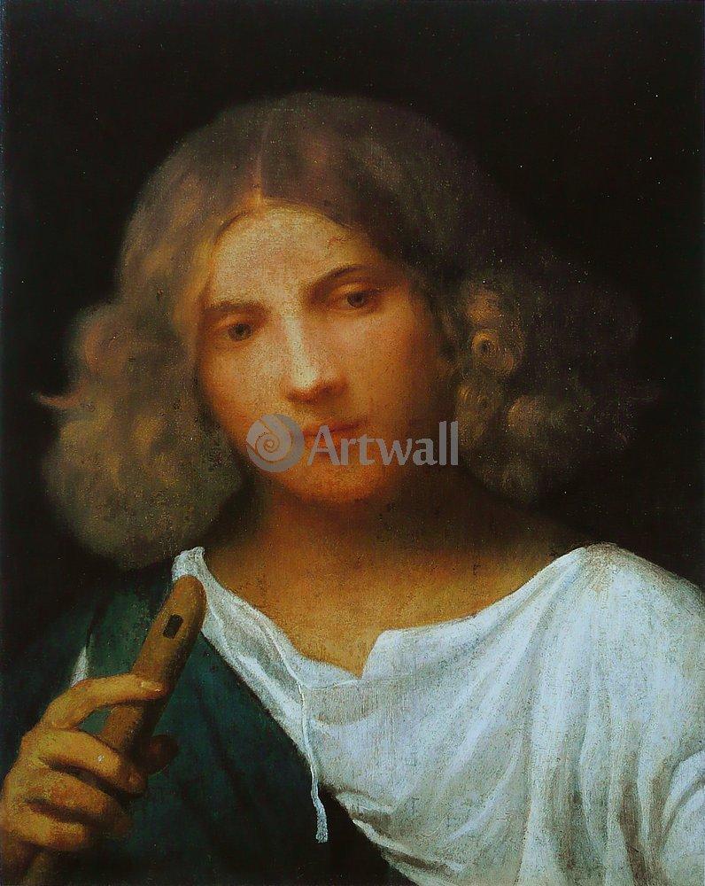 """Художники, картина """"Портрет юноши с флейтой"""", 20x25 см, на бумаге от Artwall"""