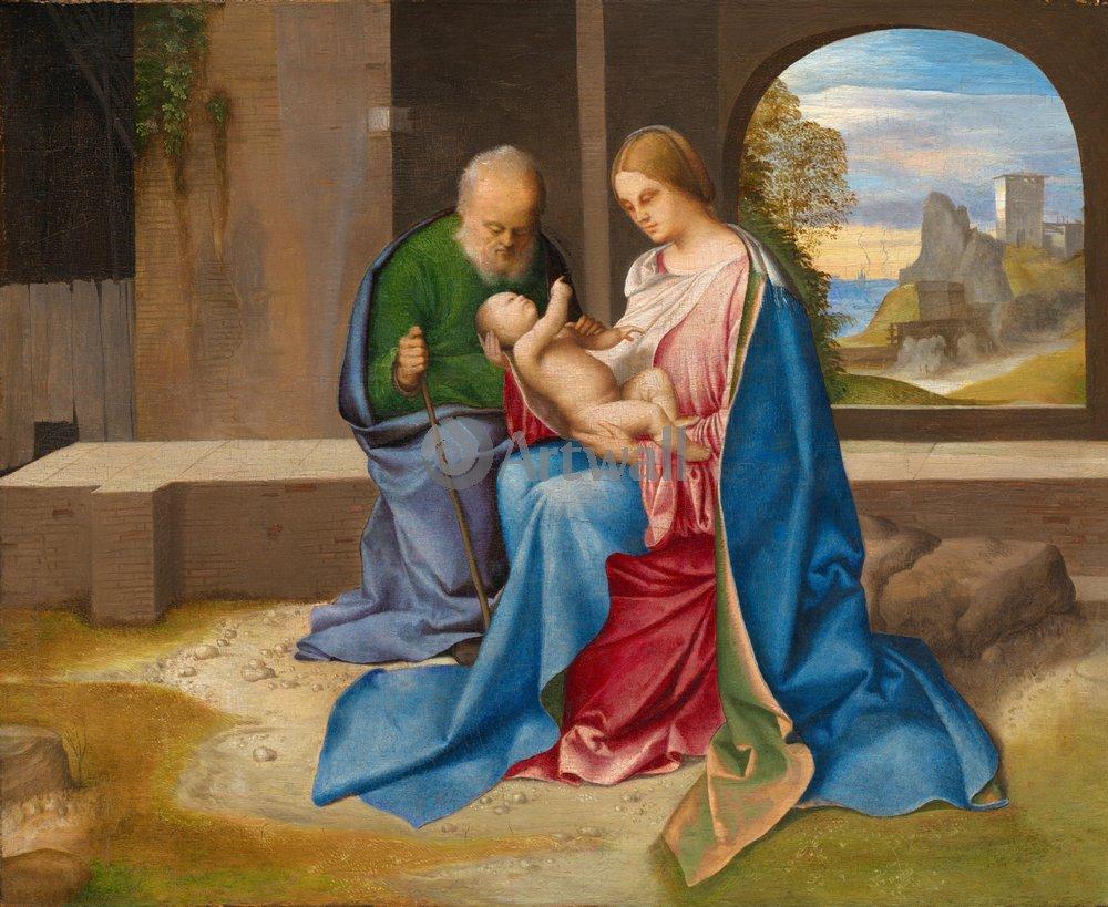 """Художники, картина """"Святое семейство"""", 24x20 см, на бумаге от Artwall"""