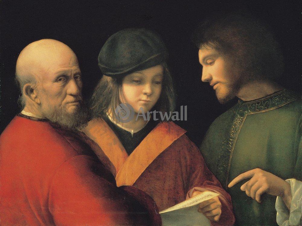 """Художники, картина """"Три возраста"""", 27x20 см, на бумаге от Artwall"""