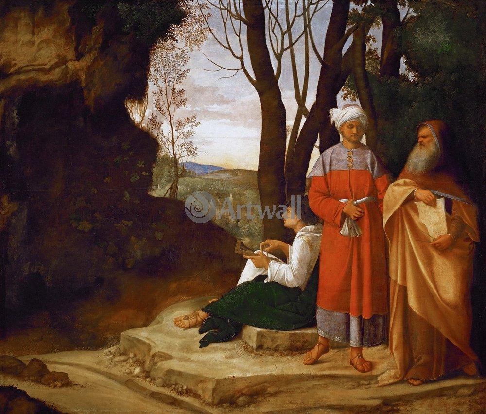 """Художники, картина """"Три философа"""", 23x20 см, на бумаге от Artwall"""