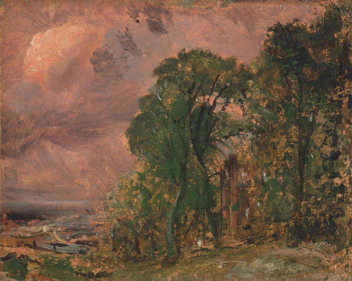 """Художники, картина """"Вид на Хэмпстед в грозовую погоду"""", 25x20 см, на бумаге от Artwall"""