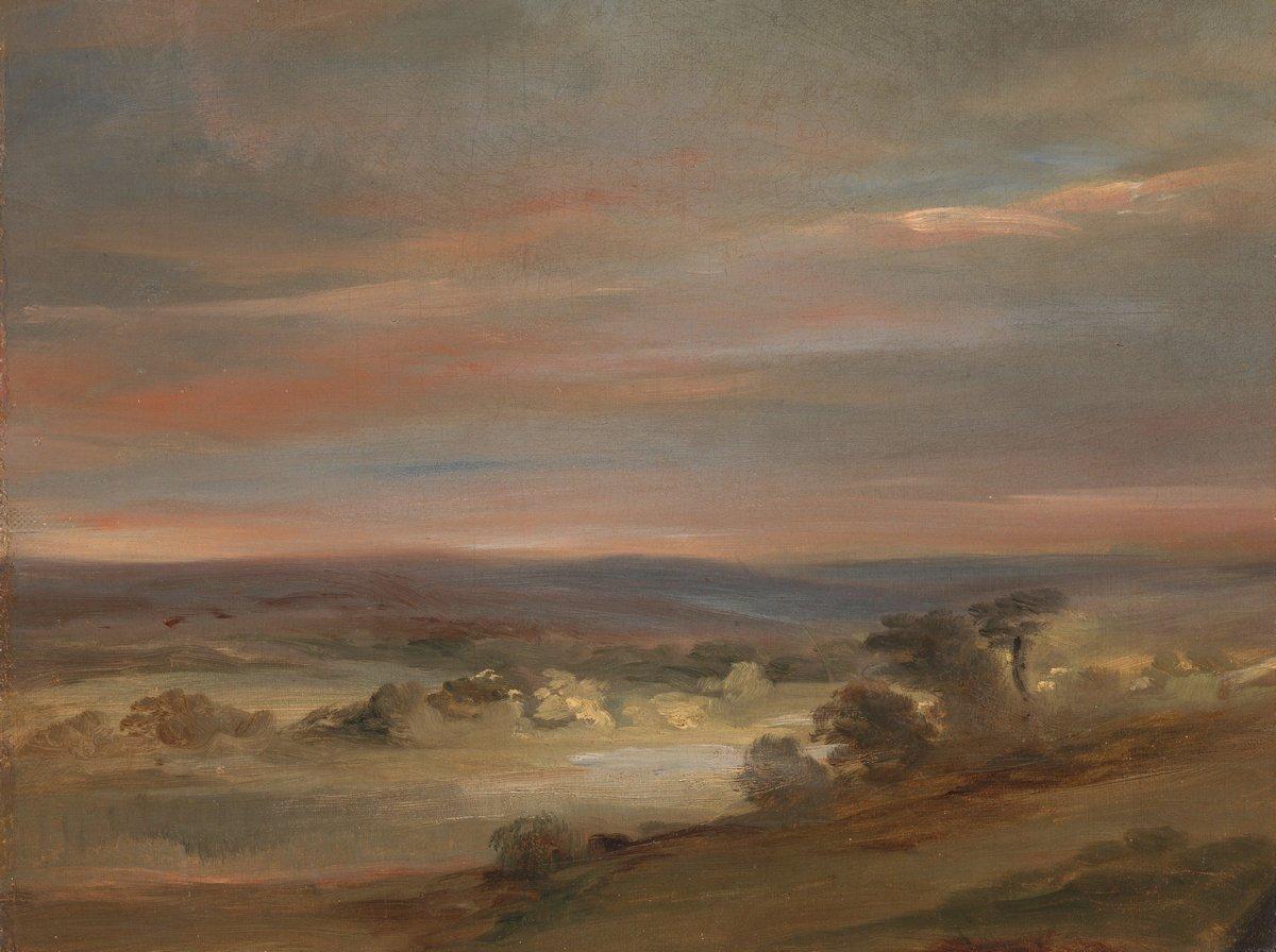 """Художники, картина """"Вид от Хэмпстед-Хит, раннее утро"""", 27x20 см, на бумаге от Artwall"""