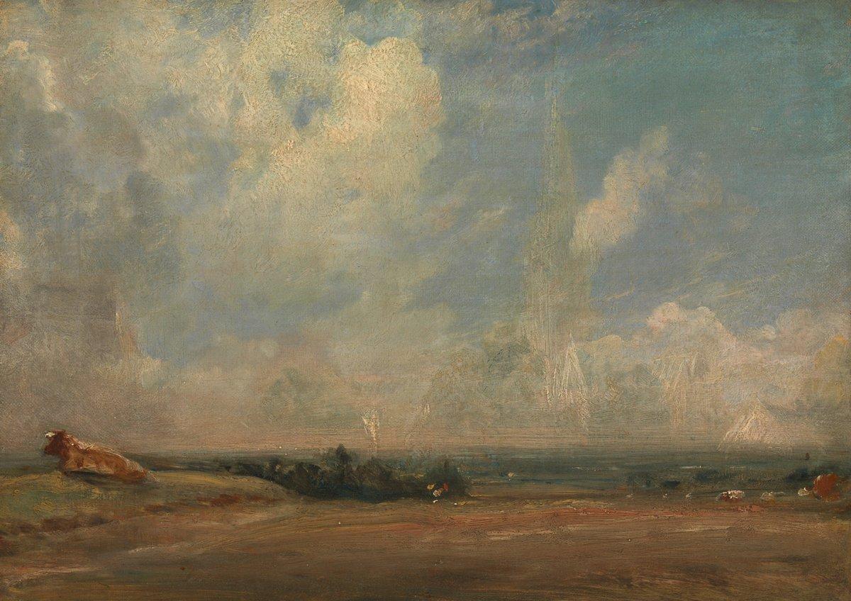 """Художники, картина """"Вид от Хэмпстед-Хит"""", 28x20 см, на бумаге от Artwall"""