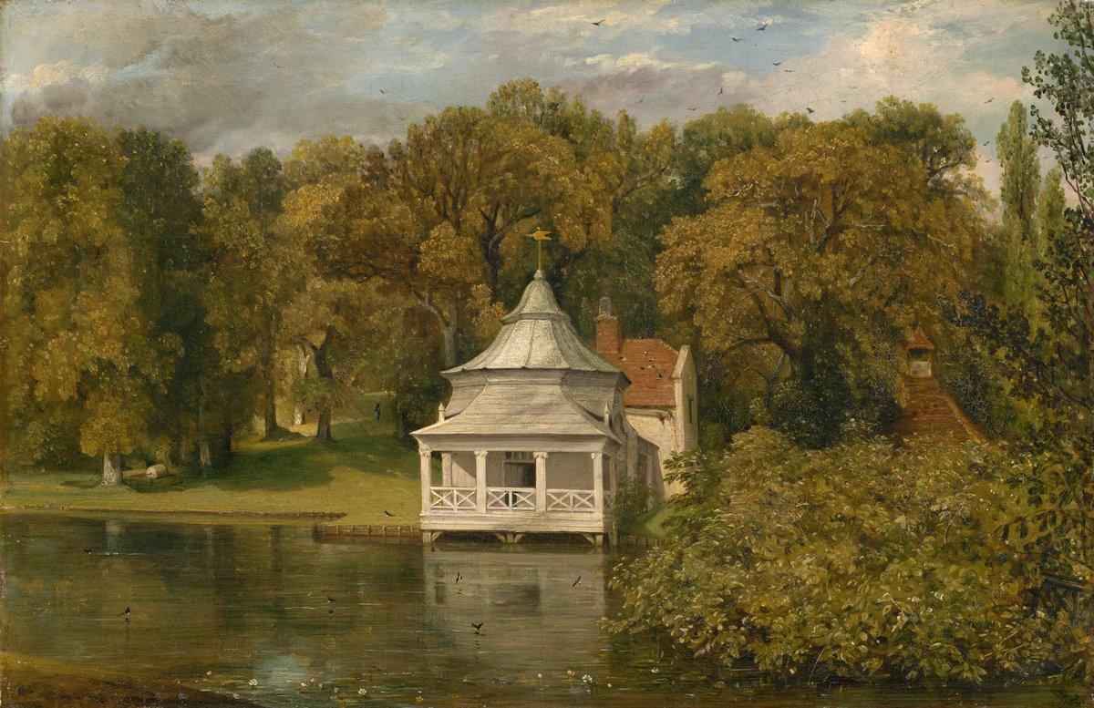"""Художники, картина """"Купальня перед Альресфорд Холлом"""", 31x20 см, на бумаге от Artwall"""