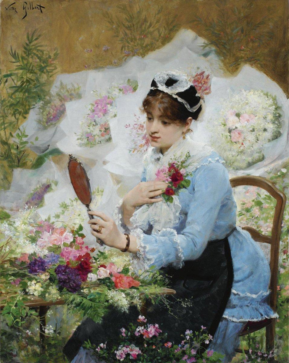 Картинки мужик, старинные картинки девушек с цветами
