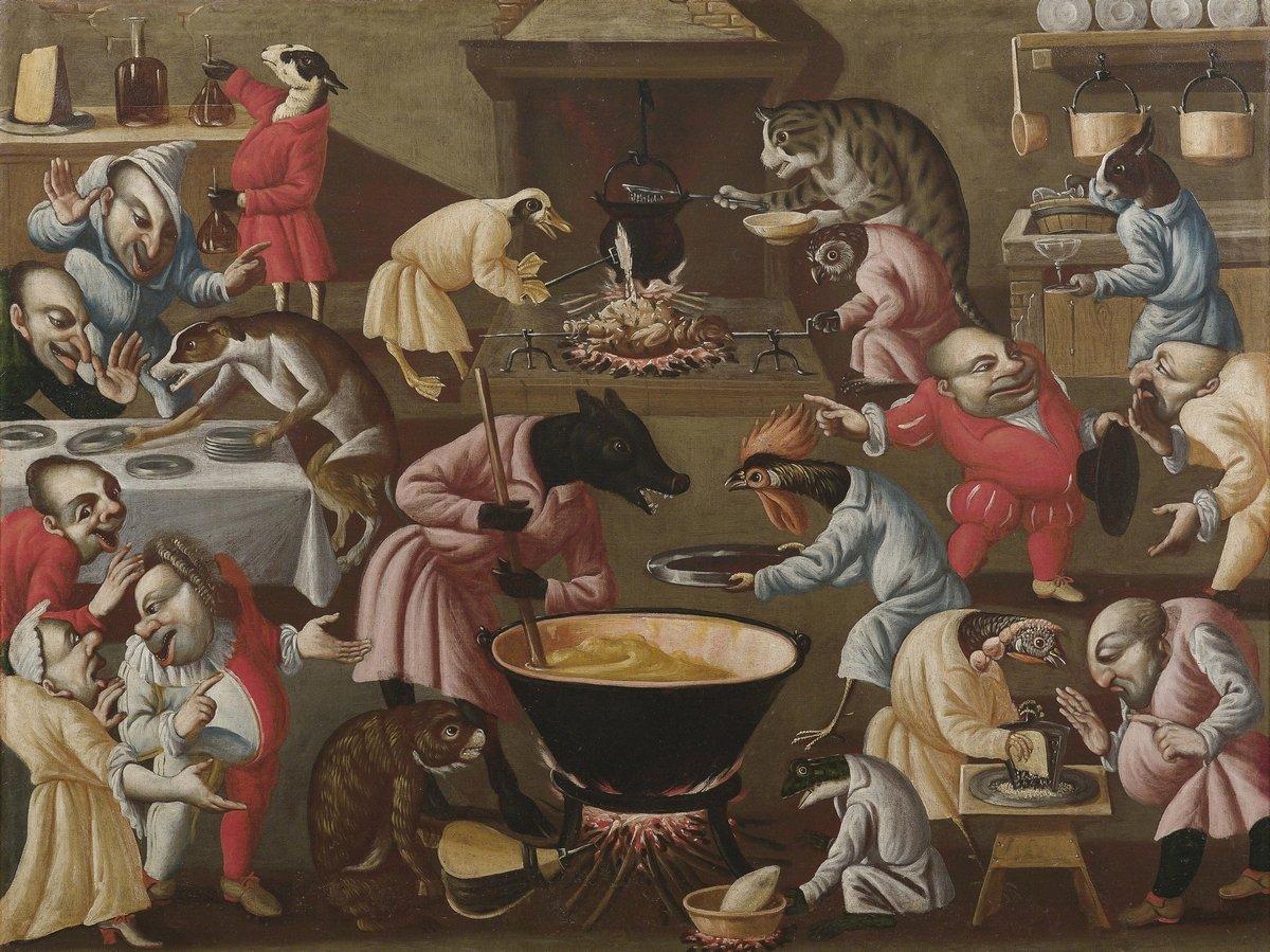 """Искусство, картина """"Абрахам Ковартс «Кухня»"""", 27x20 см, на бумаге от Artwall"""