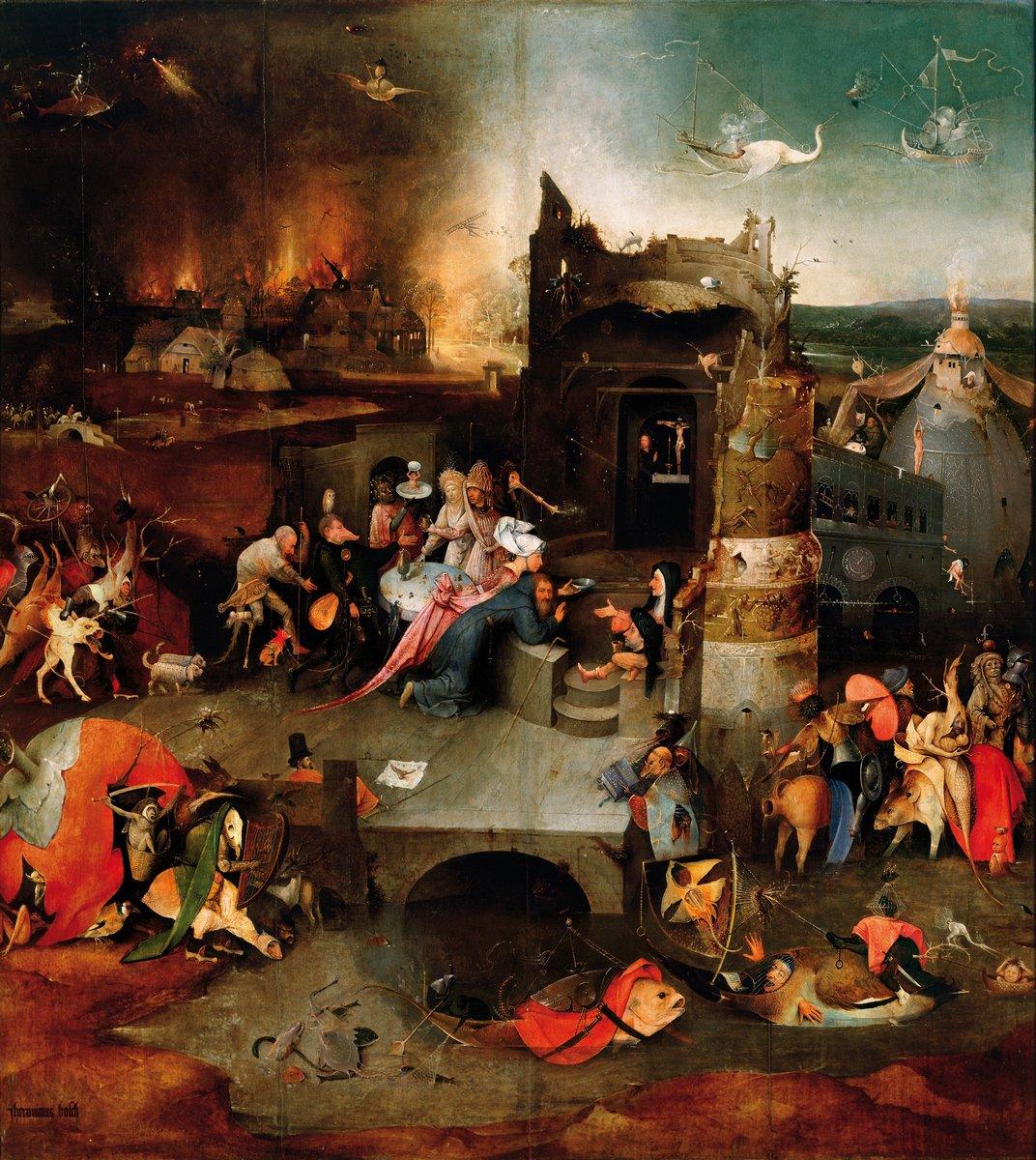 """Искусство, картина """"Босх Иероним «Искушение св. Антония», центральная часть триптиха"""", 20x22 см, на бумаге от Artwall"""