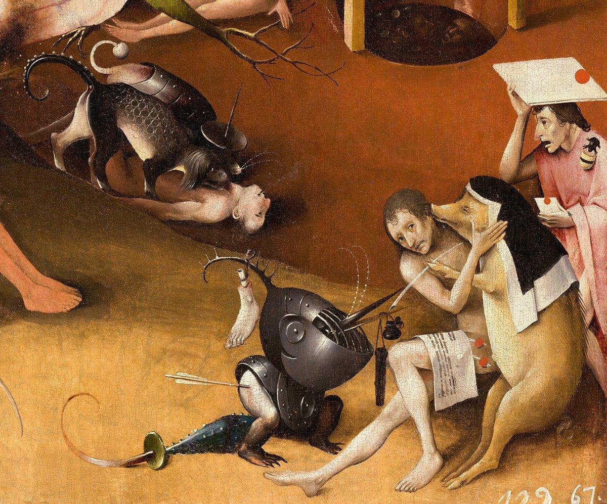 """Искусство, картина """"Босх Иероним «Сад земных наслаждений»,  фрагмент"""", 24x20 см, на бумаге от Artwall"""