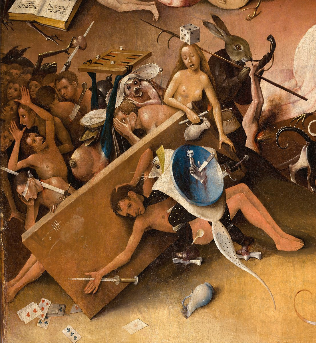"""Искусство, картина """"Босх Иероним «Сад земных наслаждений»,  фрагмент"""", 20x22 см, на бумаге от Artwall"""