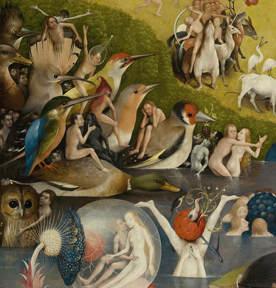 """Искусство, картина """"Босх Иероним «Сад земных наслаждений»,  фрагмент"""", 20x21 см, на бумаге от Artwall"""