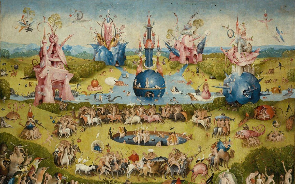 """Искусство, картина """"Босх Иероним «Сад земных наслаждений»,  фрагмент"""", 32x20 см, на бумаге от Artwall"""
