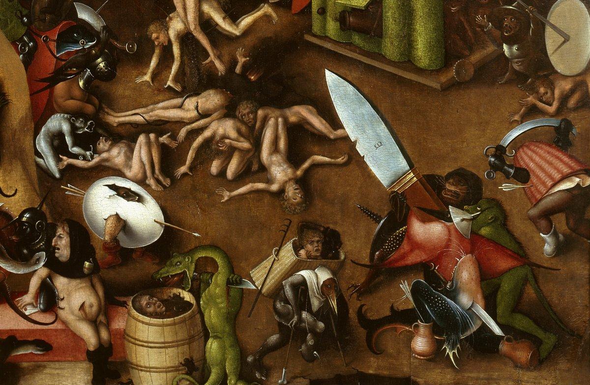 """Искусство, картина """"Босх Иероним «Страшный суд», фрагмент"""", 31x20 см, на бумаге от Artwall"""