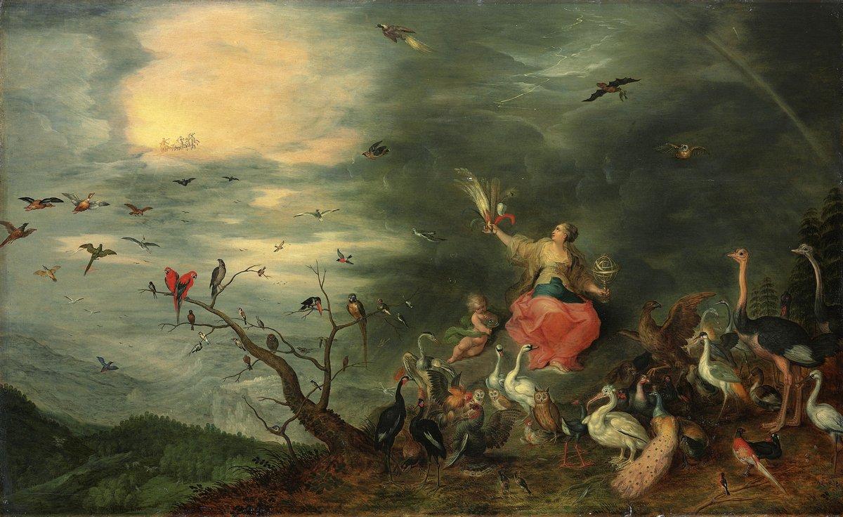 """Искусство, картина """"Брейгель Ян младший «Аллегория Воздуха»"""", 33x20 см, на бумаге от Artwall"""