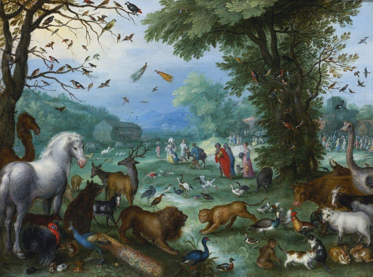 """Искусство, картина """"Брейгель Ян старший «Ноев ковчег»"""", 27x20 см, на бумаге от Artwall"""