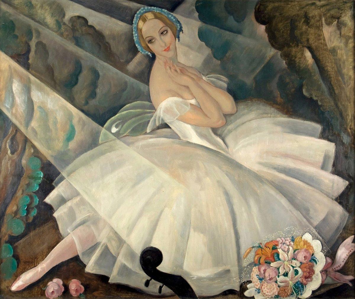 """Художники, картина """"Балерина Улла Поульсен"""", 24x20 см, на бумаге от Artwall"""