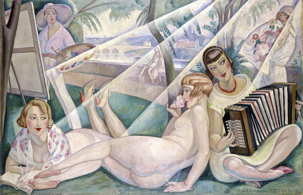 """Художники, картина """"Летний день"""", 31x20 см, на бумаге от Artwall"""