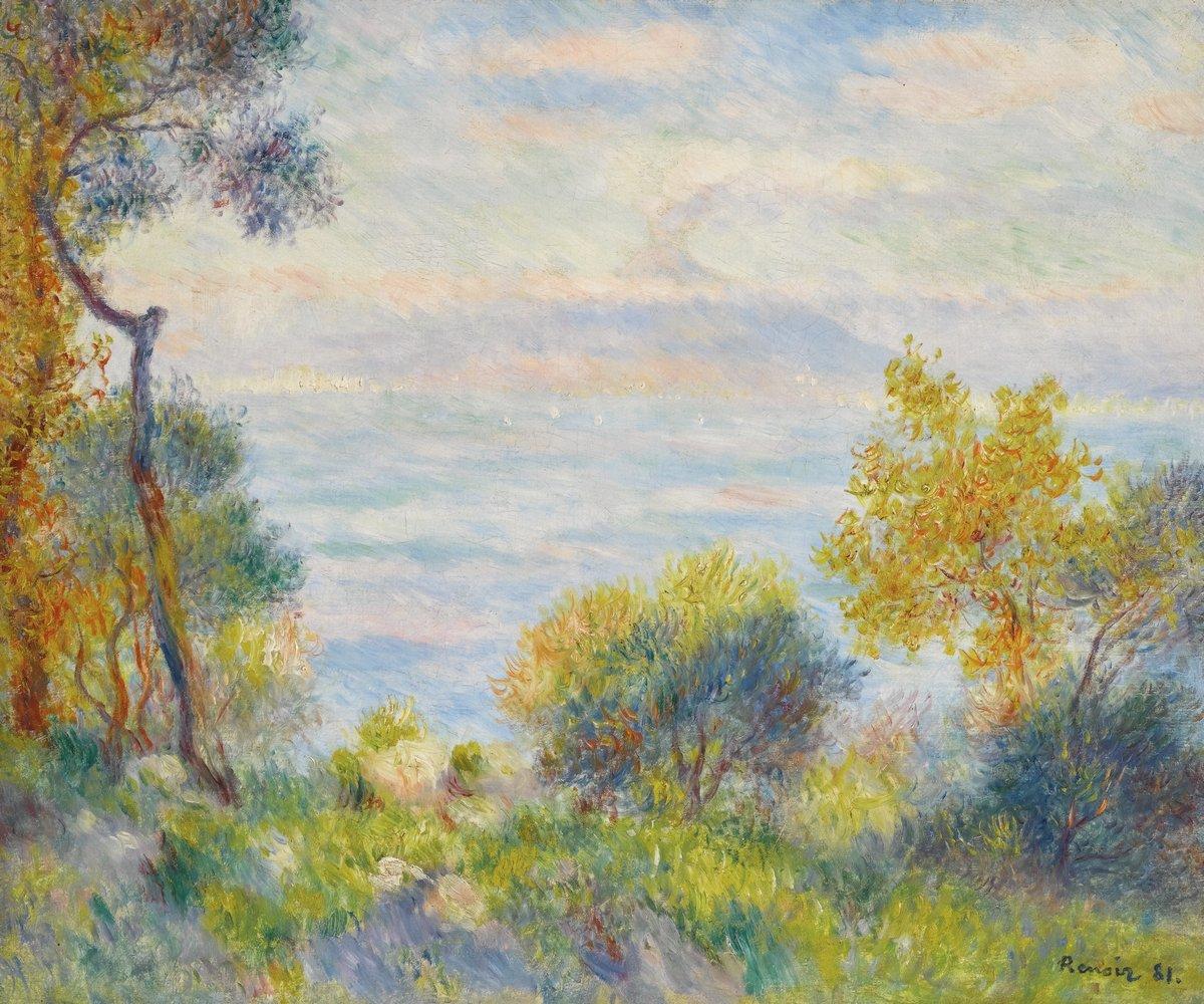 """Художники, картина """"Вид с горы"""", 24x20 см, на бумаге от Artwall"""