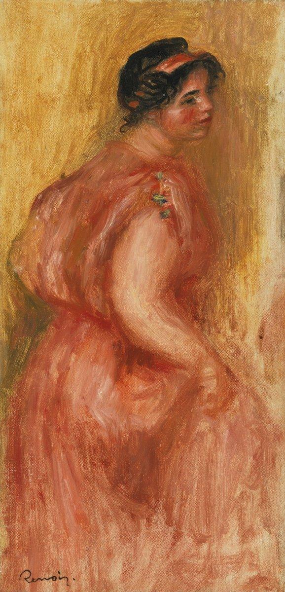 """Художники, картина """"Габриэль в красной тунике"""", 20x42 см, на бумаге от Artwall"""