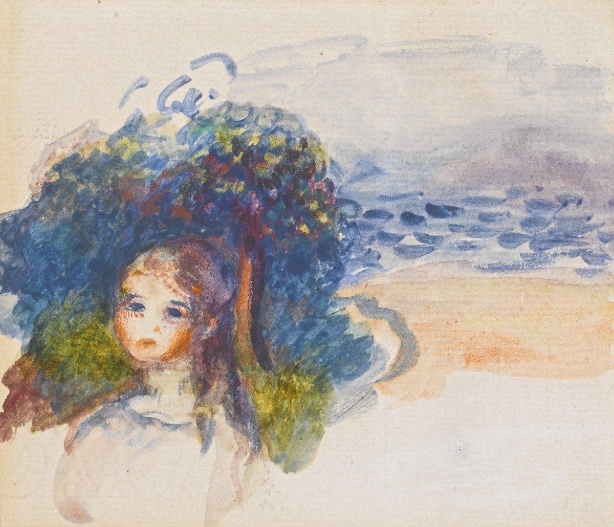 "Художники, картина ""Голова девушки в пейзаже"", 23x20 см, на бумаге от Artwall"