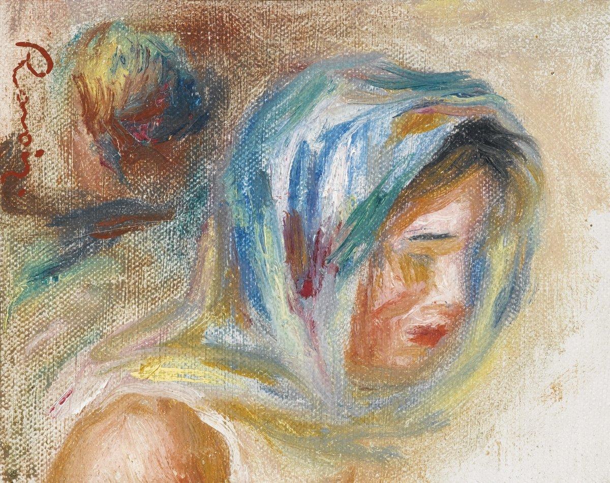 """Художники, картина """"Голова женщины"""", 25x20 см, на бумаге от Artwall"""
