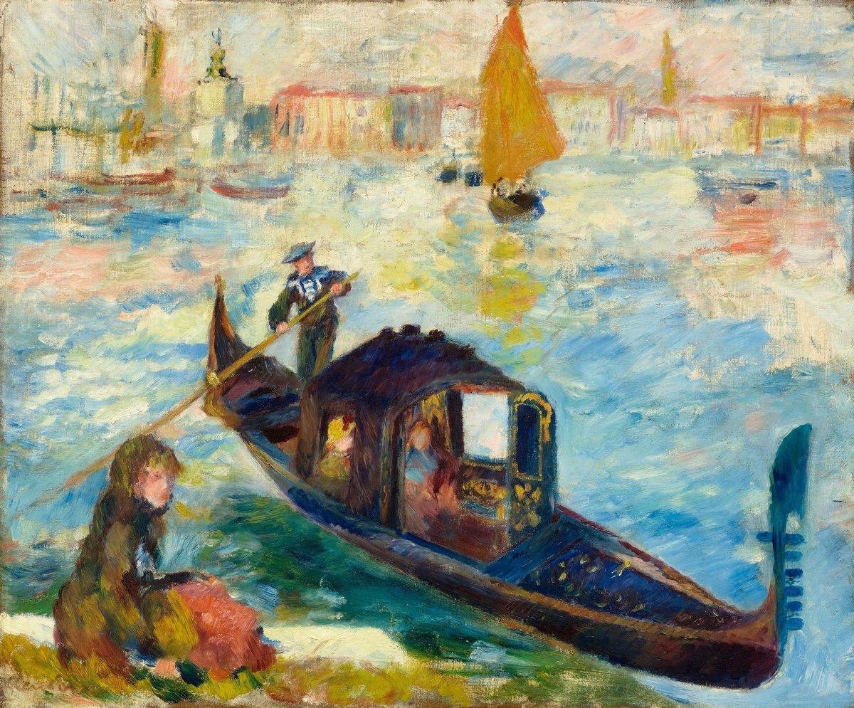 """Художники, картина """"Гранд канал, Венеция"""", 24x20 см, на бумаге от Artwall"""