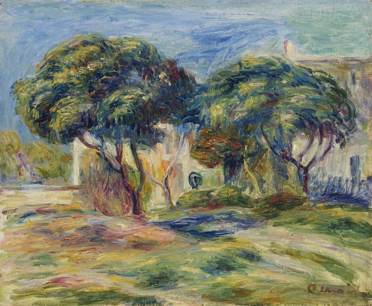 """Художники, картина """"Два дерева перед домами"""", 24x20 см, на бумаге от Artwall"""