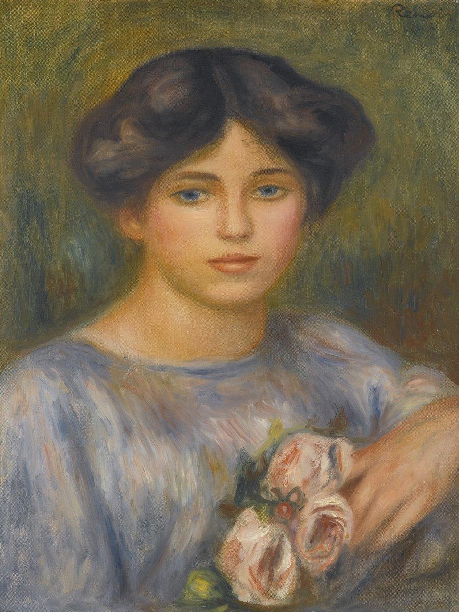 """Художники, картина """"Девушка с розами"""", 20x27 см, на бумаге от Artwall"""