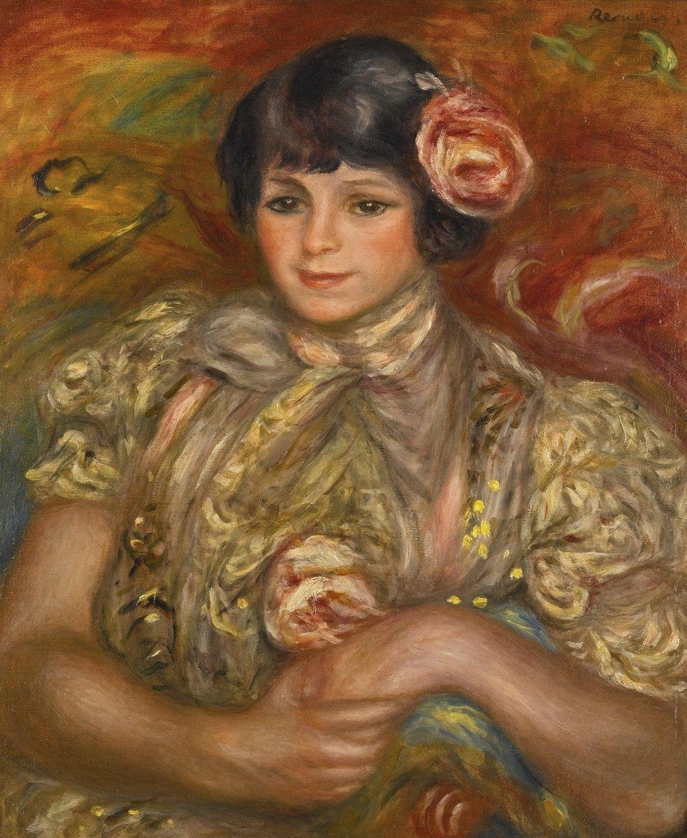 "Художники, картина ""Девушка с розой в волосах"", 20x24 см, на бумаге от Artwall"