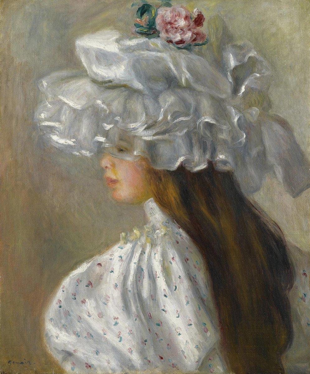 """Художники, картина """"Женщина в белой шляпе"""", 20x24 см, на бумаге от Artwall"""