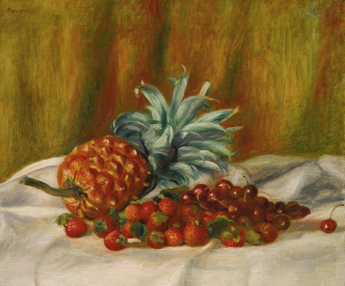 """Художники, картина """"Клубника, вишни и ананас"""", 24x20 см, на бумаге от Artwall"""