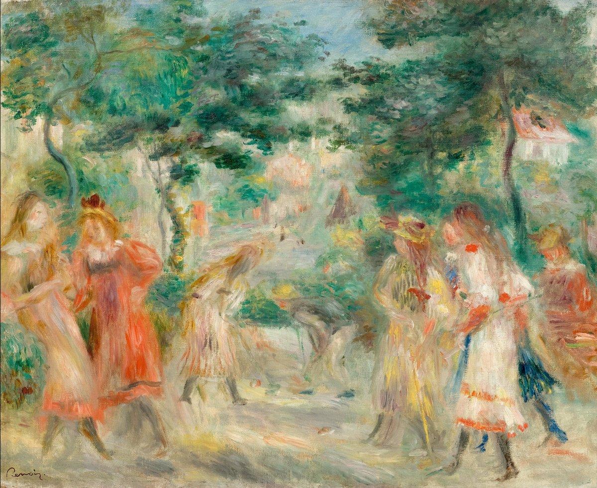 """Художники, картина """"Крокет (дети в саду Монмартра)"""", 24x20 см, на бумаге от Artwall"""