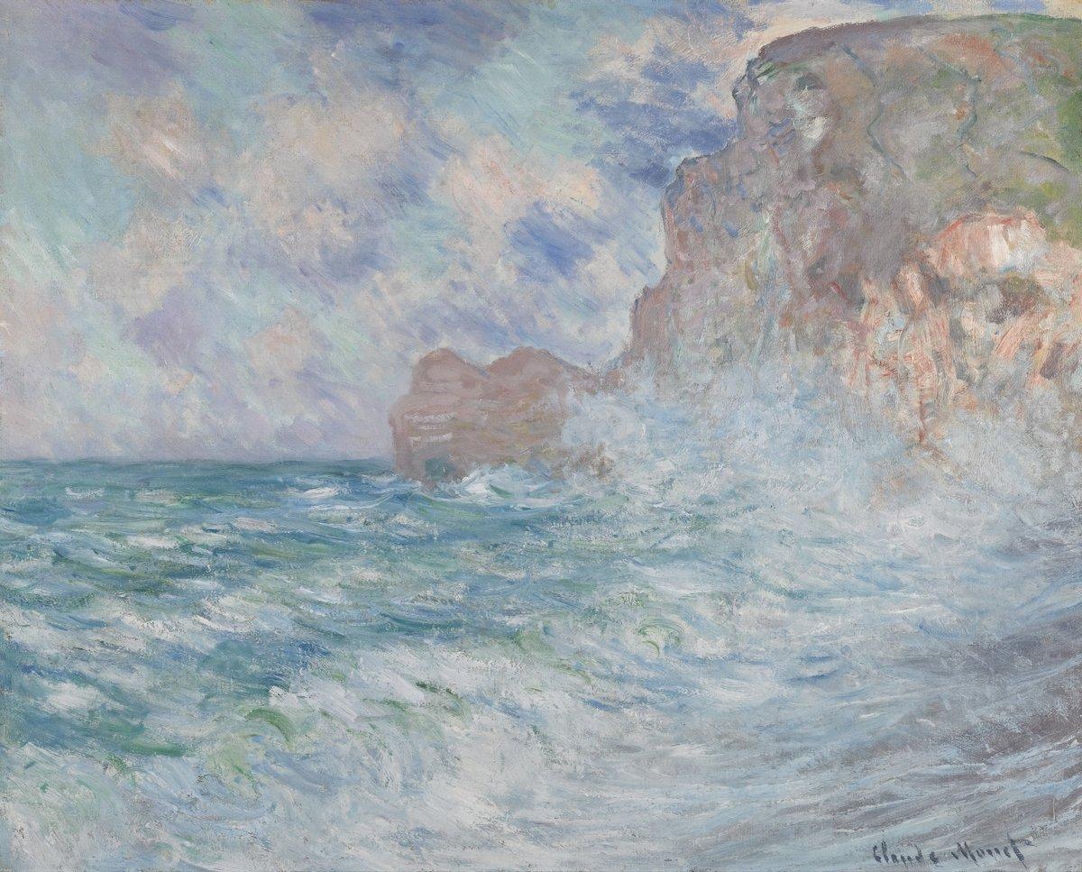 "Художники, картина ""Бурное море в Этрета"", 25x20 см, на бумаге от Artwall"