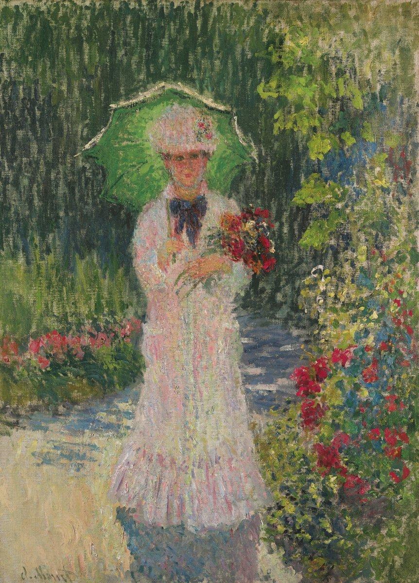 """Художники, картина """"Камилла с зеленым зонтиком"""", 20x28 см, на бумаге от Artwall"""