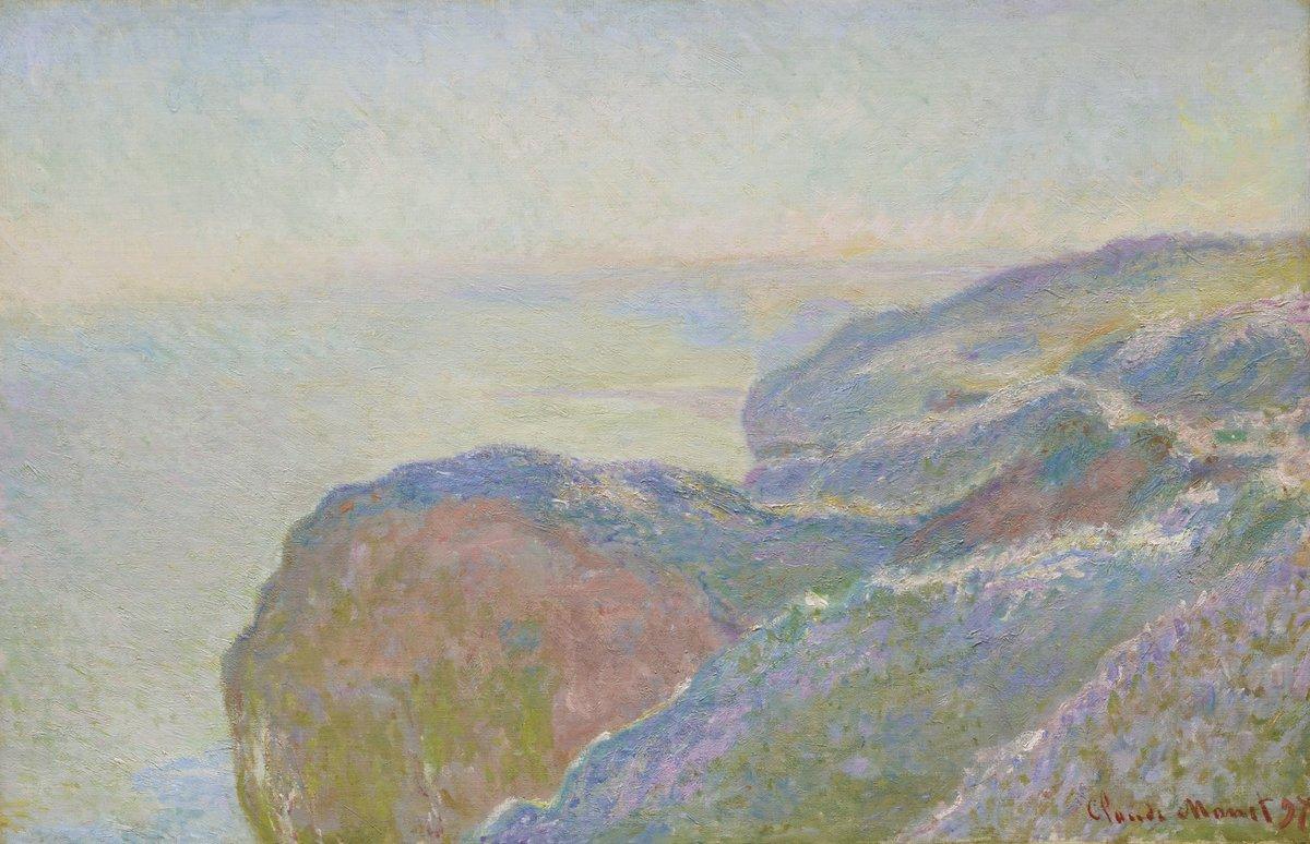 """Художники, картина """"Около Дьеппа, утро"""", 31x20 см, на бумаге от Artwall"""
