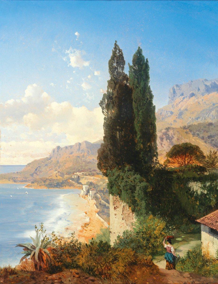 """Пейзажи """"Циммермон Альберт «Около Монако»"""", 20x26 см, на бумаге от Artwall"""