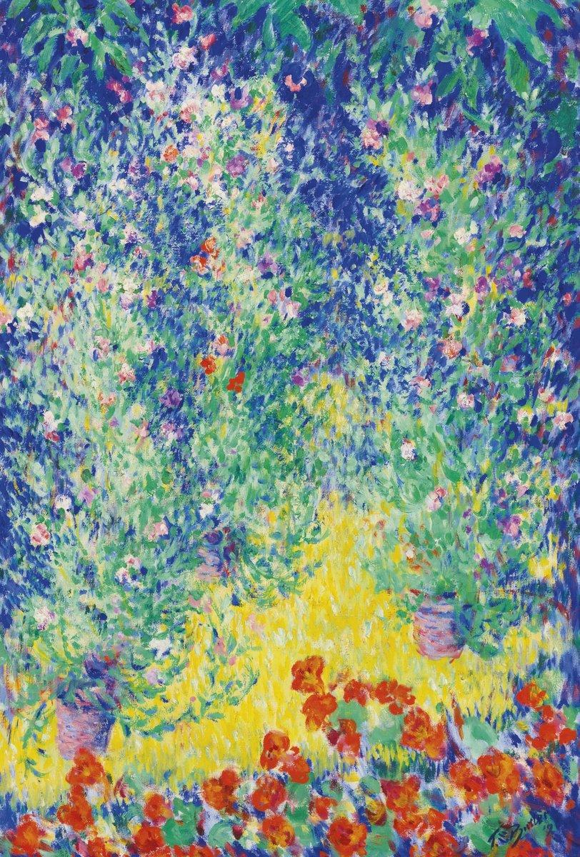 "Художники, картина ""Батлер Теодор «Цветущий сад»"", 20x30 см, на бумаге от Artwall"