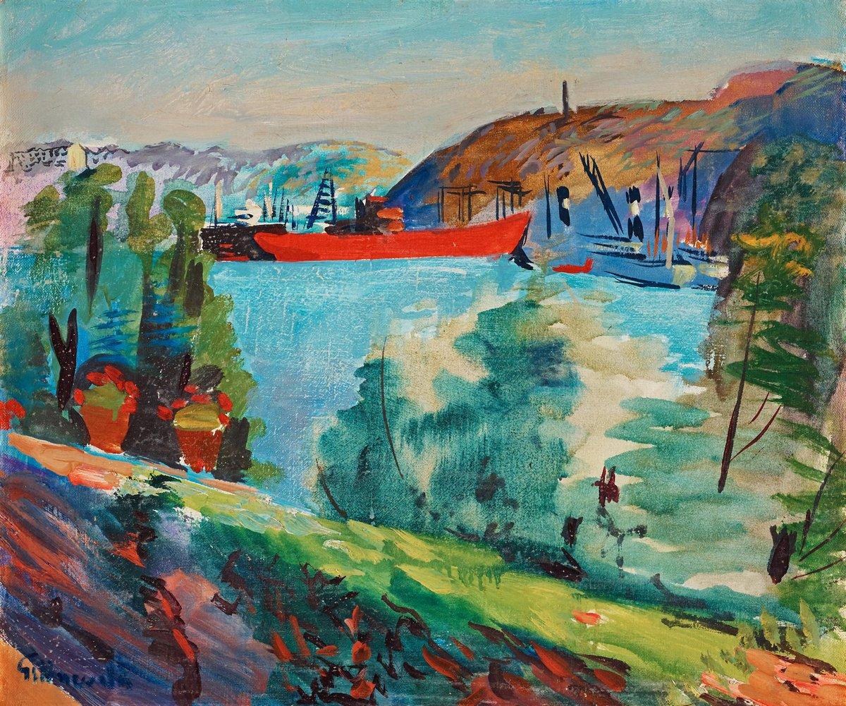 """Художники, картина """"Вид из Улдемарсудде"""", 24x20 см, на бумаге от Artwall"""