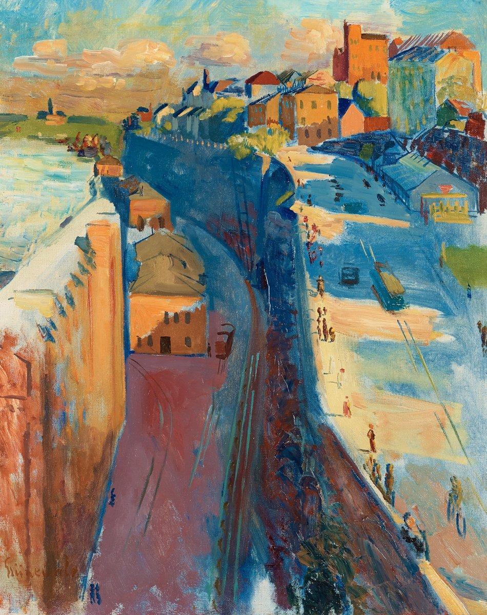 """Художники, картина """"Вид на Катаринаваген"""", 20x25 см, на бумаге от Artwall"""