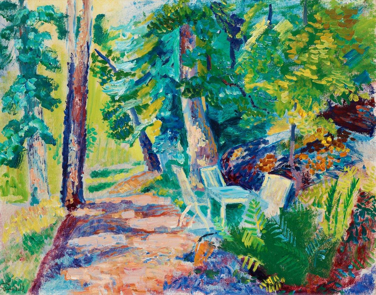 """Художники, картина """"Дорожка в парке"""", 25x20 см, на бумаге от Artwall"""