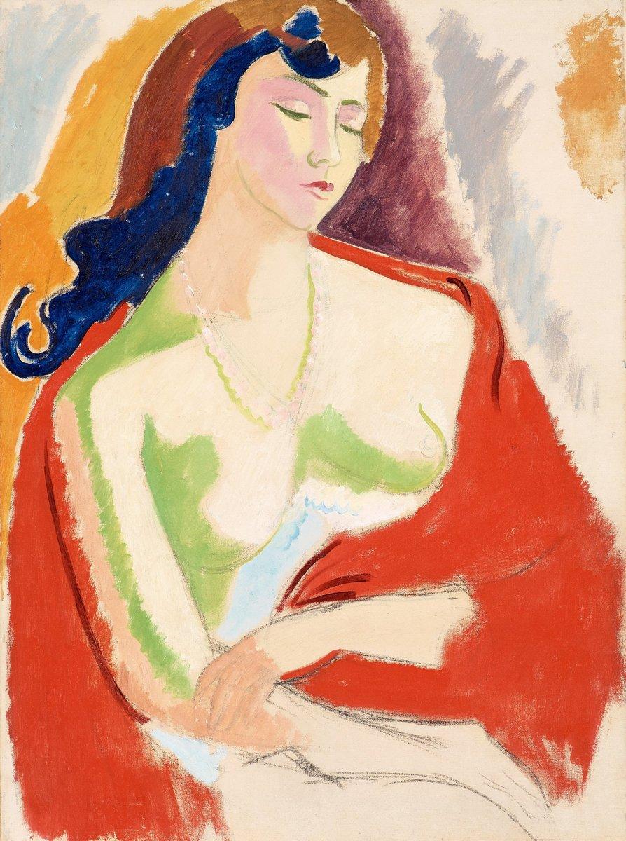 """Художники, картина """"Женщина с шалью"""", 20x27 см, на бумаге от Artwall"""