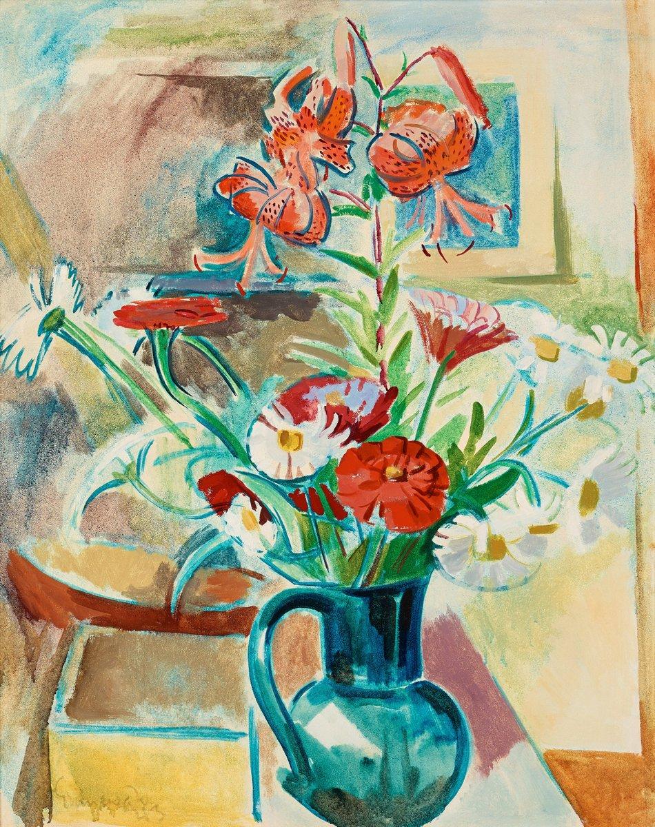 """Художники, картина """"Летние цветы"""", 20x25 см, на бумаге от Artwall"""
