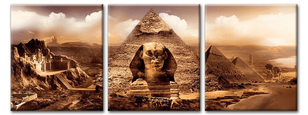 Модульная картина «Архитектура Египта», 134x50 см, модульная картина от Artwall
