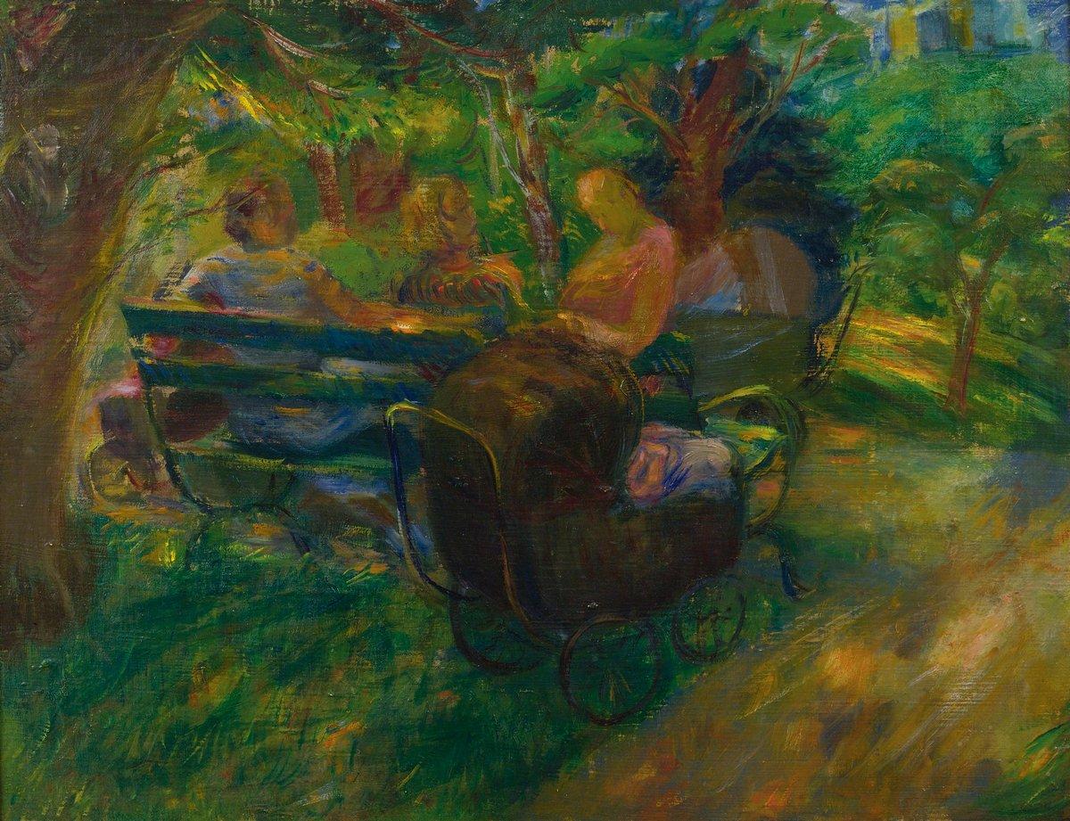 """Художники, картина """"В Центральном парке"""", 26x20 см, на бумаге от Artwall"""