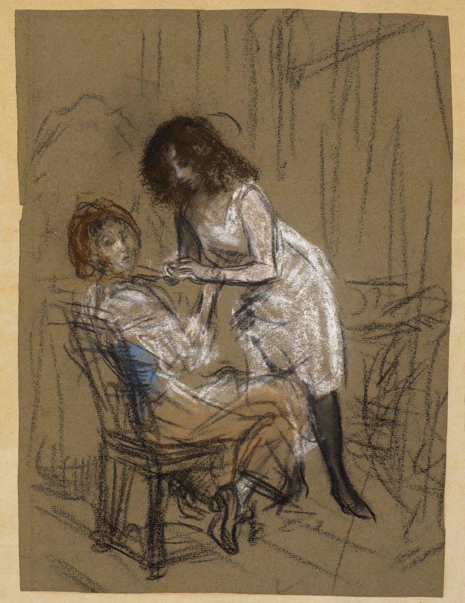 """Художники, картина """"Две женщины"""", 20x26 см, на бумаге от Artwall"""