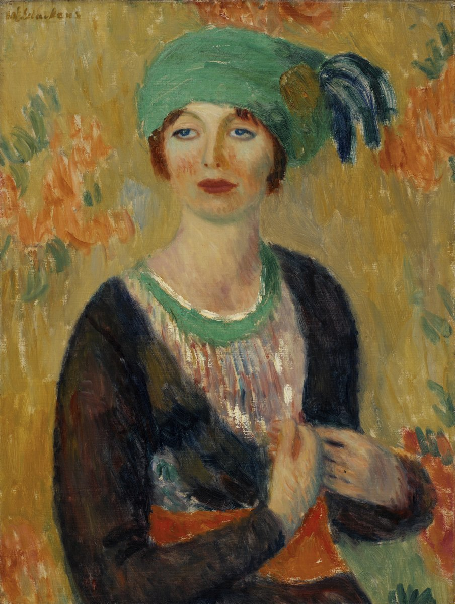 "Художники, картина ""Девушка в зеленом тюрбане"", 20x27 см, на бумаге от Artwall"