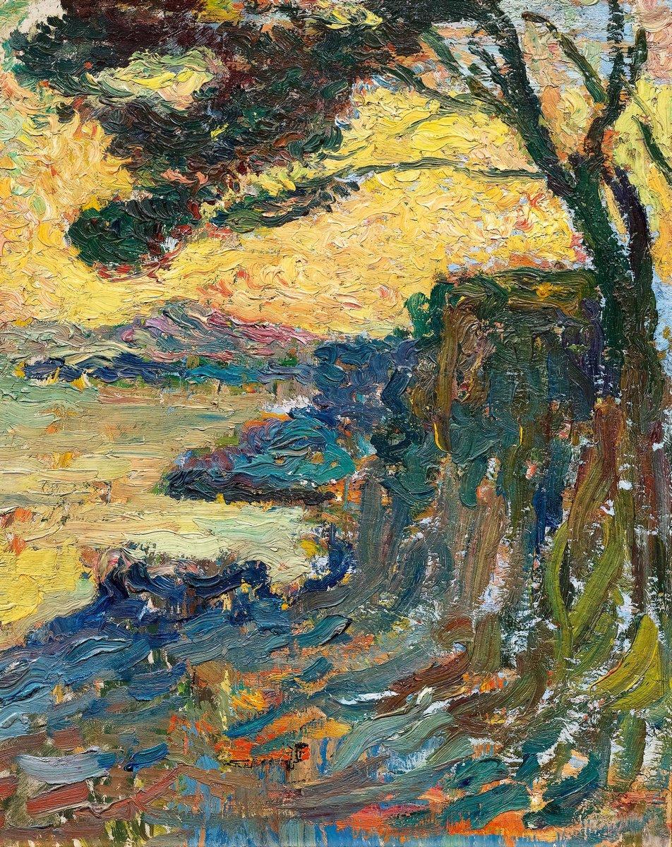 Картина Мартин Анри «Закат на бухте»