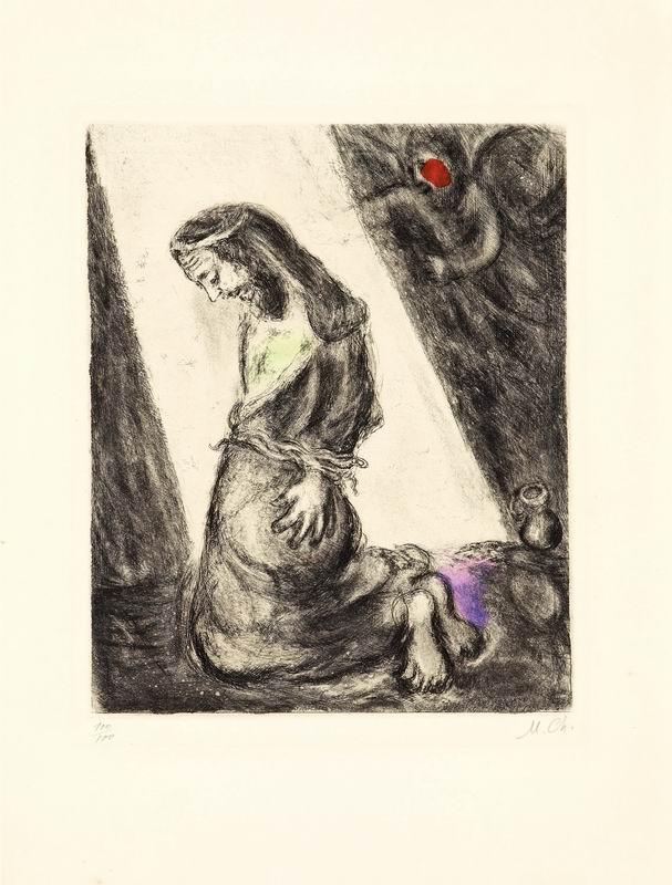 """Художники, картина """"Иеремия в яме"""", 20x26 см, на бумаге от Artwall"""