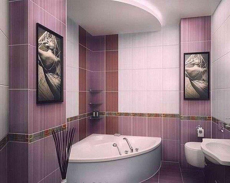 украшение ванной комнаты картинами